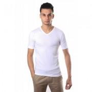 Schiesser Men Stretch T-Shirt V-neck White