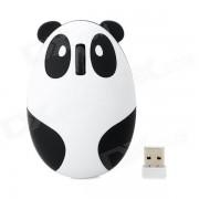 Panda Estilo 2.4G Wireless USB 2.0 Raton recargable optico - Blanco + Negro