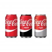 Pack de 24 Latas 350ml Coca Cola en Todas las Versiones (Normal-Light-Zero)