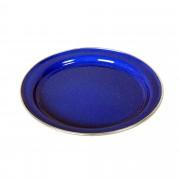 Relags Emaille Teller flach - Campinggeschirr - blau