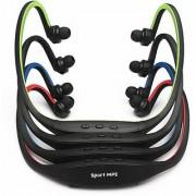 Sport Wireless Headset Headphone Earphone MP3 Music Player Micro SD TF FM Radio