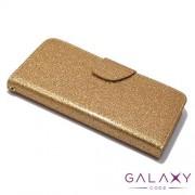 Futrola BI FOLD GLITTER za Iphone 5G/5S/SE zlatna