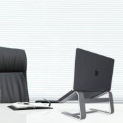 Macally Aluminium Laptop Stand - преносима алуминиева поставка за MacBook и лаптопи (тъмносива)