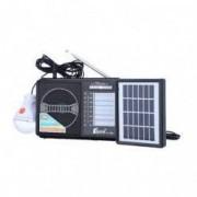Set Radio AM/FM/SW1-8 cu Incarcare Solara Fepe FP-1789U-LS Negru si Adaptor Priza Centenar