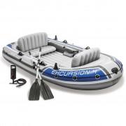 Intex Excursion 4 Barco insuflável com remos e bomba 68324NP
