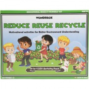 WondrBox educational toy - Reduce Reuse Recycle (4-in-1 ) learning games for 8 year old Multicolor