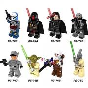 Generic 8pcs Star Wars Clone Trooper Figure Stormtrooper Commander Neyo Kashyyyk Kylo Ren Building Blocks Model Bricks Toy for Children pg8071
