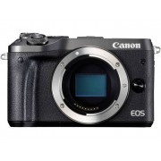 Systeemcamera Canon EOS M6 Behuizing (body) 24.2 Mpix Zwart WiFi, Bluetooth, Full-HD video-opname