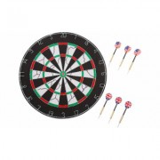 "Hey! Play! 18 inch Double-Sided Flocking Dartboard with Six 17g Darts 18"""" Multi-color"