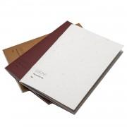 Notebooks A6 3-Pack, Vit/Röd/Beige