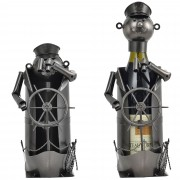 Поставка за вино [en.casa]®, Капитан, 15,5 x 13,6 x 22,3 cm