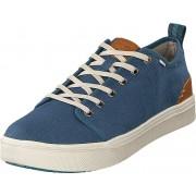 Toms Airforce Blue Heritage Canvas Blue, Skor, Sneakers och Träningsskor, Låga sneakers, Beige, Turkos, Blå, Herr, 42