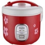 Skyline VT-9060 Electric Rice Cooker with Steaming Feature(1.8 L, RED/WHITE)
