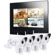 VisorTech Digitales Überwachungssystem DSC-720.mc mit 4 LED-HD-Kameras (IP54)