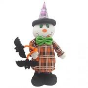 Awakingdemi Pumpkin Witches Elastic Plush Toy Dolls Ornaments Halloween Decor 400.00*140.00*60.00mm White