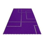 SiGN Hey-Sign Stamp Teppich (70x200cm) 26 aubergine