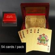 Guldpläterade spelkort - 24 karat folie - Euro Gold Gift Edition
