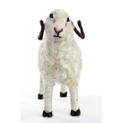 De Kulture™ Hand Made Showpiece Felt Ram Soft Plush Toy 9x3x8 (LWH) for Home Decoration Party Decorative Office Decor Ideal for New Year Birthday Christmas Decoration Easter Gift