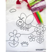 Girl Color A Tote Bag Filled with Creativity Activities and Crafts