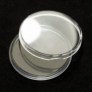 10 Pcs Plastic Capsules Coin Box Display Cases 30mm Clear Round Boxed Lightweight Coin Holder