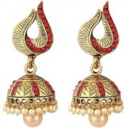 Jewels Gehna Alloy Party Wear Wedding Gold Plated Traditional Jhumki Jhumka Earring Set For Women Girls