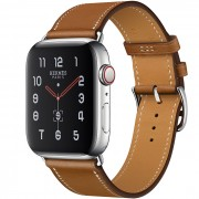 Часы Apple Watch Hermès Series 5 GPS + Cellular 44mm Stainless Steel Case with Single Tour (Fauve)