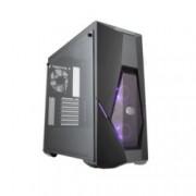 Кутия Cooler Master MasterBox K500 RGB, ATX/mATX/Mini-ITX, 2x USB 3.0, прозрачни панели, 2x 120мм вентилатора с RGB подсветка 1x 120мм вентилатор черен, черна, без захранване