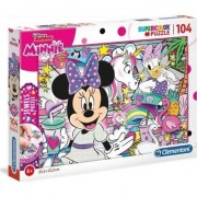 Puzzle Clementoni SuperColor Jewels Puzzle: Disney Junior Minnie, 104 piese