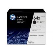 HP Pack de ahorro de 2 cartuchos de Cartuchos de Tóner Original HP LaserJet HP 64X de Alta Capacidad negro CC364XD para Laserjet P4014, P4015 y P4515