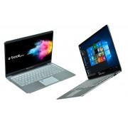 """E-Book Pro / Ultrabook Microtech Eb14ai32 14.1"""" Intel Celeron Quad Core N3450 2,2 Ghz 32 Gb Ssd 6 Gb Lpddr3 Intel Hd Graphics 500 Tastiera Qwerty Windows 10 Home Grigio Alluminio Prodotto Italiano"""