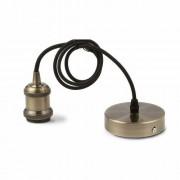 LED lámpa függeszték , E27 , bronz , vintage