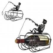 [en.casa]® Поставка за вино Риболовец, 26 x 11 x 23,5 cm