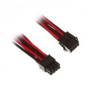 Cablu prelungitor BitFenix Alchemy 8-pini EPS12V, 45cm, red/black/black, BFA-MSC-8EPS45RKK-RP