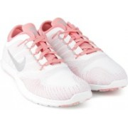 Nike WMNS NIKE FLEX ADAPT TR PRM Running Shoes For Women(White, Pink)