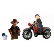 Lego Indiana Jones & Mutt Williams Minifigures Plus Motorcycle, & Crystal Skull