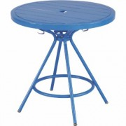 Safco CoGo Steel Outdoor/Indoor Table - 30 Inch Round, Blue, Model 4361BU
