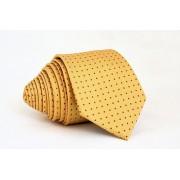 Pánská žlutá slim kravata s puntíky - 6 cm