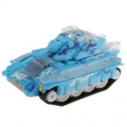 NF&E Electric Plastic Tank Model Kit Diecast Cars Tanks Toy Gift with Lights & Sounds Blue