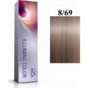 Wella Professionals Vopsea permanenta Wella Professionals Illumina Color 8/69 Blond Deschis Perlat Violet 60ml