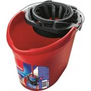 Felmosóvödör, csavarókosárral, VILEDA Supermop, piros (KHTV4)