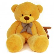 5 Feet Yellow Teddy Bear with a Bow