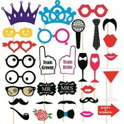 SYGA Party Props Funny Props Paper Craft Item, Multi Colour (Set of 31)