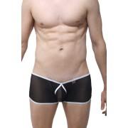 Petit-Q Buxy Transparent Boxer Brief Underwear Black/White PQ180582