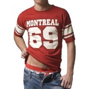 Good Boy Gone Bad Football Montreal Short Sleeved T Shirt Red