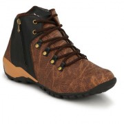 Krasiva Men's Brown Synthetic Leather Casual Boots