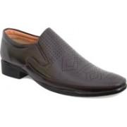 Feetway Lazer Design Party Wear Slip On(Brown)