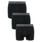 Mens Next Mono Waistband A-Fronts Three Pack - Black