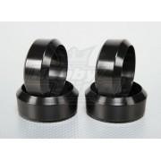 Set anvelope din plastic pentru automodele de drift 1/10 - set 4 bucati, 26mm latime