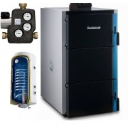 Pachet centrala termica lemne gazeificare Buderus S171 -30KW plus boiler termoelectric Tesy 140lt.-pachet premium
