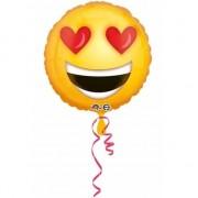 Anagram Helium ballon smiley met hartjes ogen 43 cm